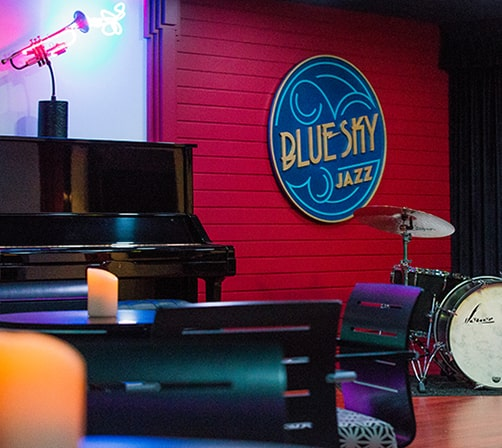 BlueSky Jazz Piano and Drums